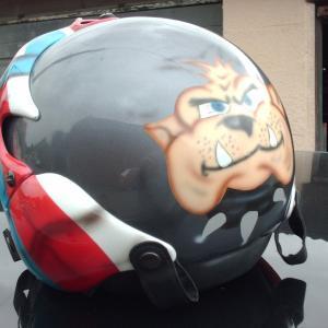 Casque de moto personnalisé - Peintre à Arras